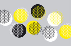 Картина геометрии круга с линией месивом иллюстрация вектора