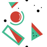 Картина 3 геометрии Xmas безшовная Стоковые Фотографии RF