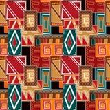 Картина геометрических абстрактных ярких элементов безшовная бесплатная иллюстрация