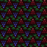 Картина геометрических виноградин простая безшовная Стоковые Изображения RF
