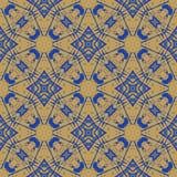 Картина геометрического абстрактного вектора безшовная Стоковые Изображения RF