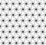 Картина геометрического цветка безшовная Стоковые Фотографии RF