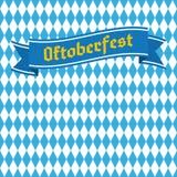 Картина голубого и белого косоугольника безшовная Фестиваль пива Германии Стоковая Фотография RF