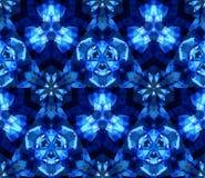 Картина голубого калейдоскопа безшовная, предпосылка, состоя из абстрактных форм Стоковые Изображения