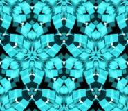 Картина голубого калейдоскопа безшовная Составленный форм конспекта цвета Стоковое Изображение