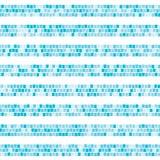 Картина голубой абстрактной мозаики горизонтальная striped безшовная Керамическая плитка разделяет бесконечную предпосылку вектор иллюстрация вектора