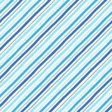Картина голубых нашивок стиля doodle параллели диагонали безшовная Стоковые Фотографии RF