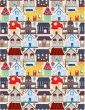 картина города безшовная Стоковое Изображение RF