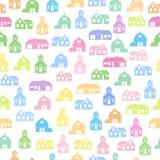 Картина городка безшовная бесплатная иллюстрация