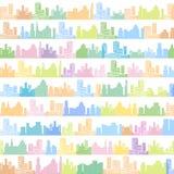 Картина городка безшовная иллюстрация вектора