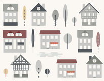 картина городского пейзажа безшовная Стоковые Изображения