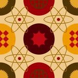Картина горячего атома безшовная стоковое изображение rf