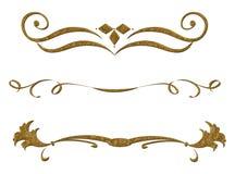 Картина года сбора винограда золота Стоковое Изображение RF