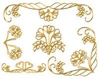 Картина года сбора винограда золота Стоковые Изображения RF