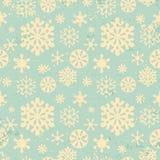 Картина год сбора винограда снежинок безшовная Стоковое Фото