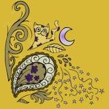 Картина год сбора винограда флористическая Стоковые Фотографии RF
