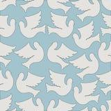 Картина голубей и голубей безшовная Стоковые Изображения