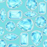 Картина голубого сапфира безшовная Стоковое Фото