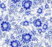 Картина голубого флористического вектора ткани безшовная бесплатная иллюстрация