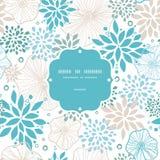Картина голубой и серой рамки заводов безшовная Стоковое Фото