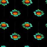 Картина голубой маргаритки акварели безшовная Стоковое Изображение RF