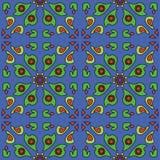 Картина голубой предпосылки простая флористическая безшовная Стоковые Изображения RF