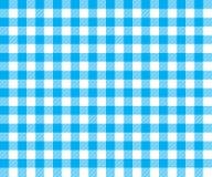 Картина голубой предпосылки ткани таблицы безшовная Стоковое фото RF