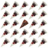 Картина голубых чизкейков с ягодами Стоковое Изображение