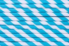 Картина голубых striped бумажных солом Стоковые Фотографии RF