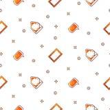 Картина градиента электронных устройств портативная безшовная Стоковое Фото