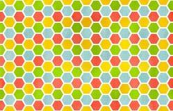 Картина гребня акварели геометрическая Стоковое Изображение