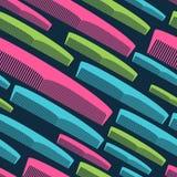 Картина гребня волос безшовная в ярких цветах Стоковое фото RF