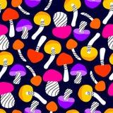 картина гриба безшовная Стоковые Фотографии RF