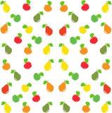 Картина груши и яблока безшовная также вектор иллюстрации притяжки corel Стоковые Фотографии RF