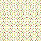 Картина груши и яблока безшовная также вектор иллюстрации притяжки corel Стоковые Изображения RF