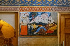 Картина дворца Chehel Sotoun Стоковые Фотографии RF
