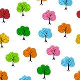 Картина декоративного дерева безшовная бесплатная иллюстрация