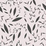 Картина декоративных хворостин с листьями Стоковое фото RF