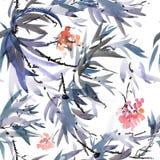 Картина дерева цветения Стоковая Фотография RF