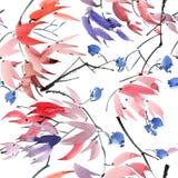 Картина дерева цветения Стоковое Изображение RF