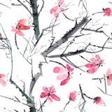 Картина дерева цветения Стоковое Изображение