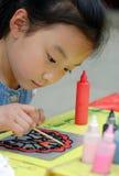 картина детей китайская Стоковое Изображение RF