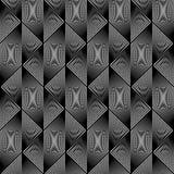 Картина дизайна безшовная monochrome геометрическая иллюстрация штока