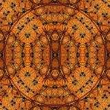 Картина дизайна искусства цифров безшовная в апельсине и желтом цвете Стоковые Изображения RF