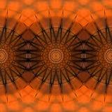 Картина дизайна искусства цифров безшовная с звездами на оранжевом красном цвете Стоковые Фотографии RF