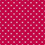 Картина дня валентинок безшовная с малыми белыми сердцами на красном фоне иллюстрация штока
