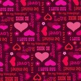 Картина дня валентинок Mod с сердцами и оформлением Стоковое Фото