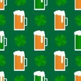 Картина дня St Patricka плоская иллюстрация штока