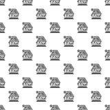 Картина дома Eco безшовная иллюстрация штока