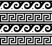 Картина древнегреческия безшовная - волны tradional и ключевая картина формируют Грецию иллюстрация штока